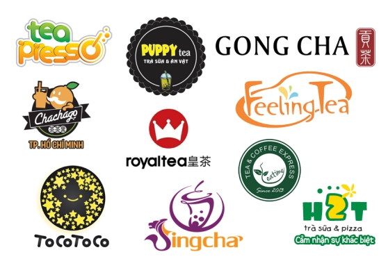 mẫu thiết kế logo trà sữa tiêu biểu khác
