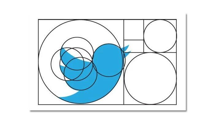 Tỉ lệ vàng trong thiết kế logo của Twitter
