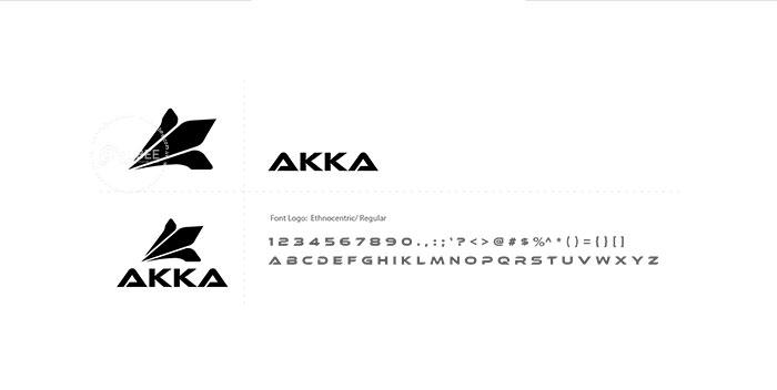 Thiết kế logo giày đá bóng Akka