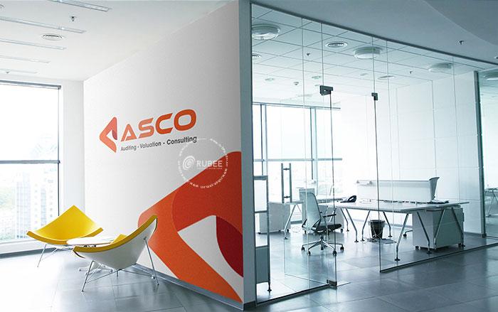 Phối cảnh thiết kế logo Asco