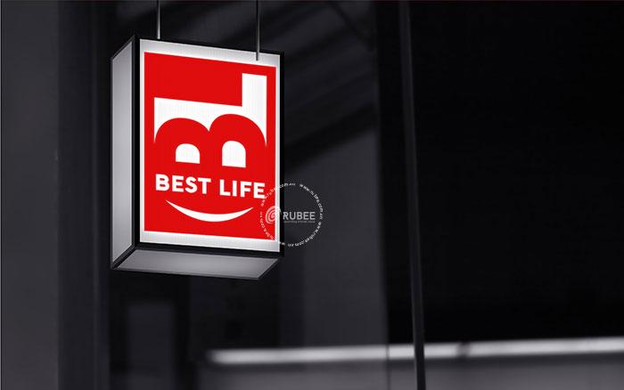 Phối cảnh thiết kế logo Best Life