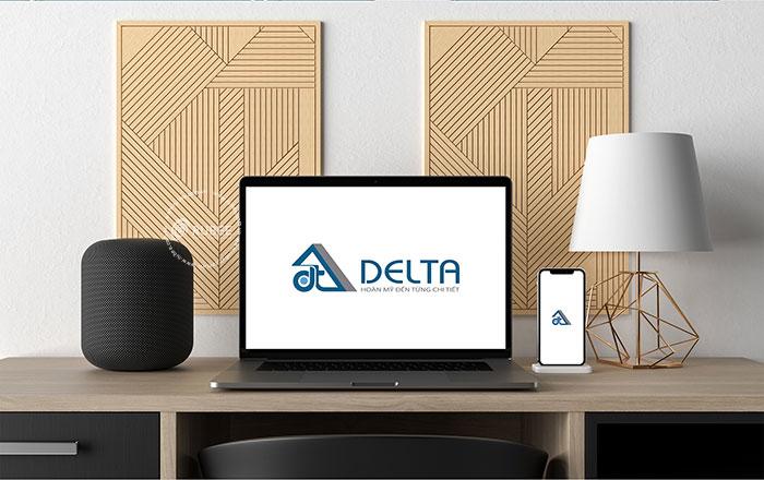 Thiết kế logo thương hiệu tủ sắt Delta