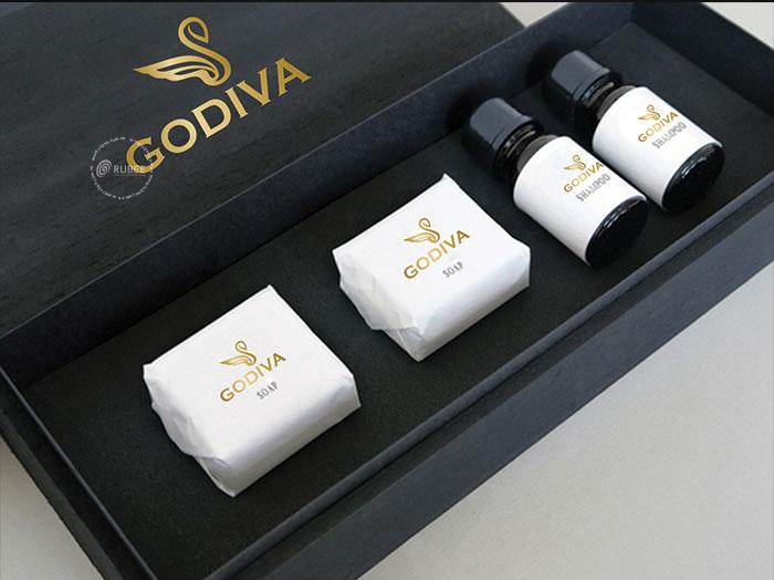 Phối cảnh thiết kế logo Godiva