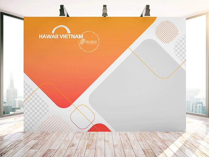 Phối cảnh thiết kế logo Haiwaii Vietnam