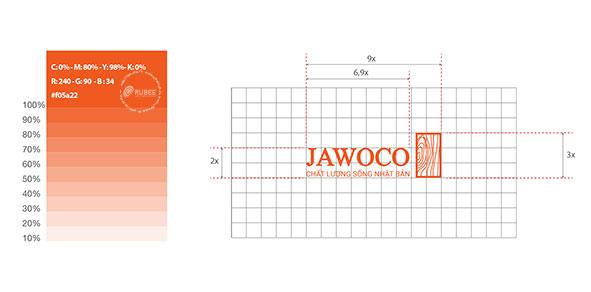 Thiết kế logo thương hiệu Jawoco