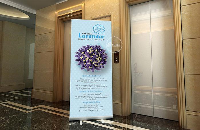 Phối cảnh thiết kế logo nha khoa Lavender