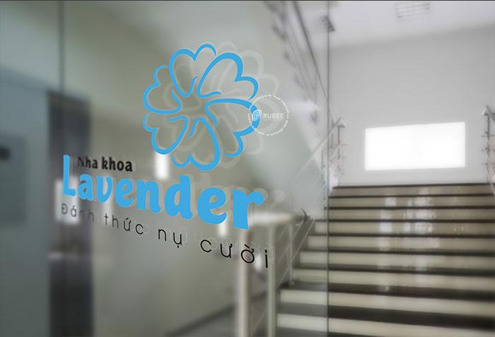 Thiết kế logo thương hiệu nha khoa thẩm mỹ Lavender