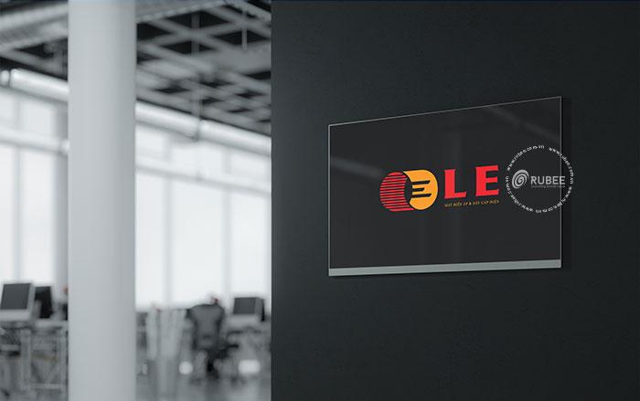 Thiết kế logo thiết bị điện LE tại Rubee