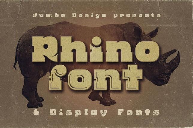 10. Font chữ thiết kế logo Rhino