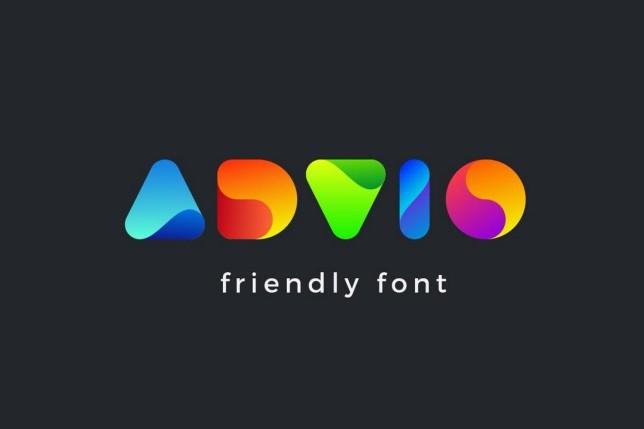 11. Font chữ thiết kế logo Advio