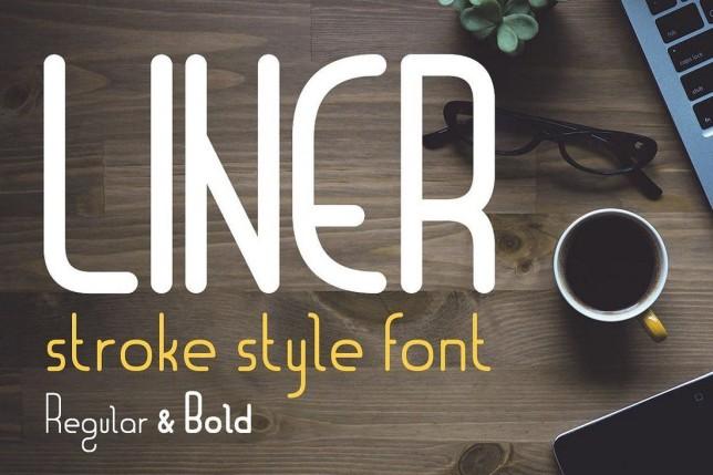12. Font chữ thiết kế logo Liner