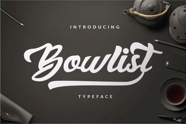 3. Font chữ thiết kế logo Bowlist