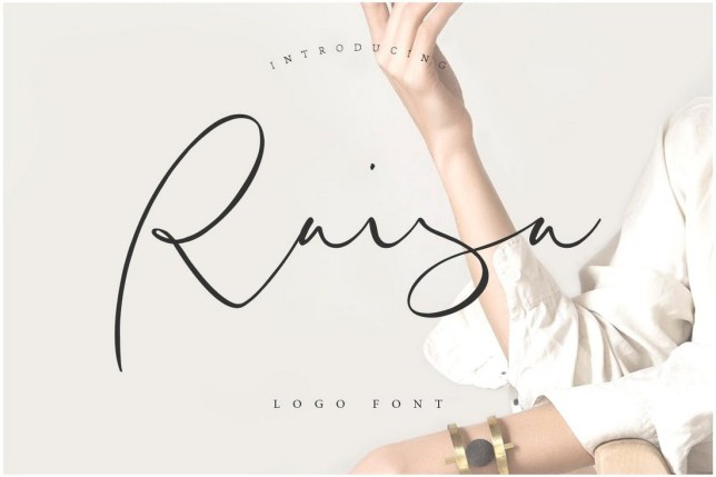 4. Font chữ thiết kế logo Raisa Script
