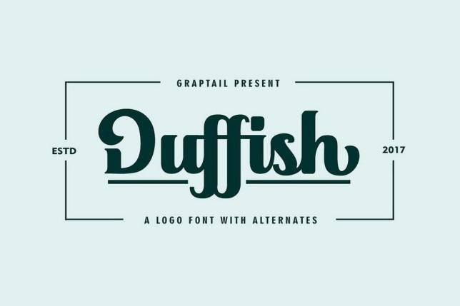 5. Font chữ thiết kế logo Duffish