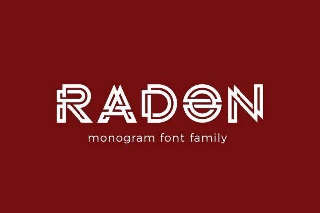 7. Font chữ thiết kế logo Radon Monogram