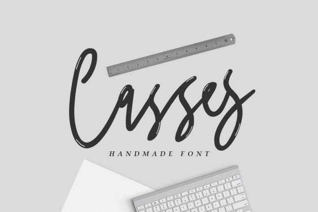 9. Font chữ thiết kế logo Casses Font