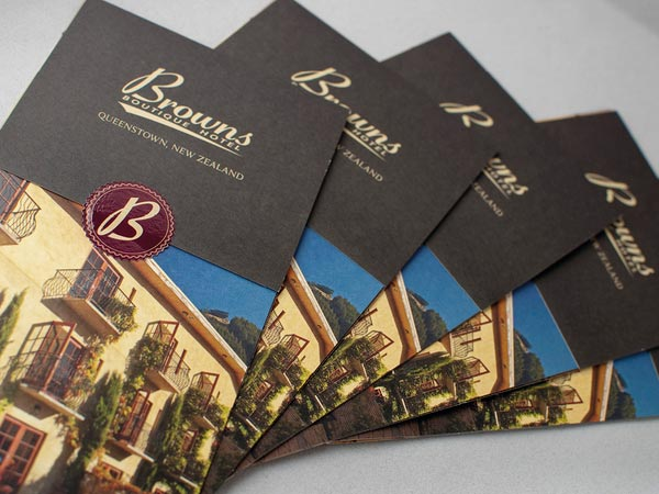 Thiết kế brochure Browns boutique hotel