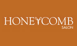 Logo honey comb salon