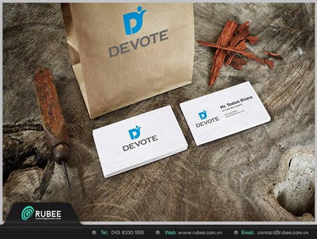 mẫu logo y tế, dược phẩm công ty devote