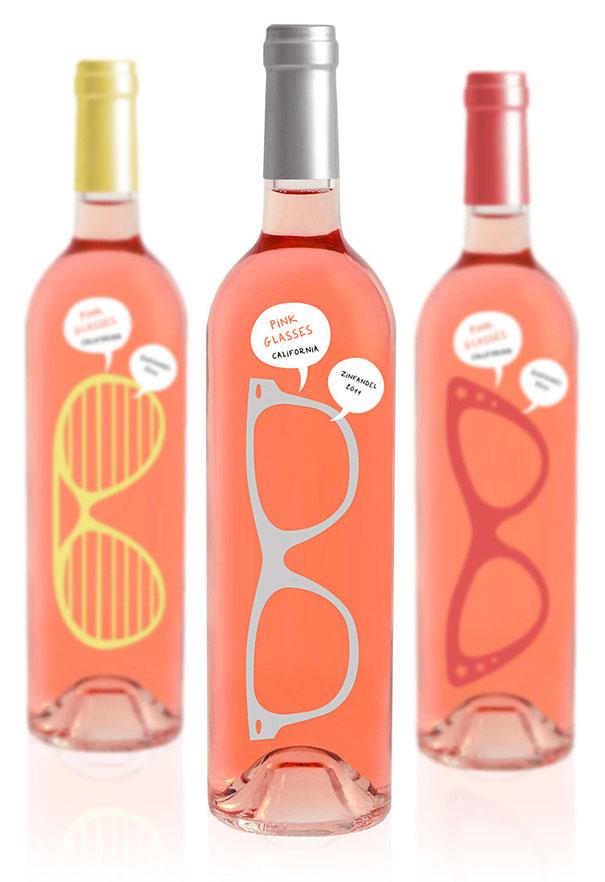Bao bì rượu pink glasses