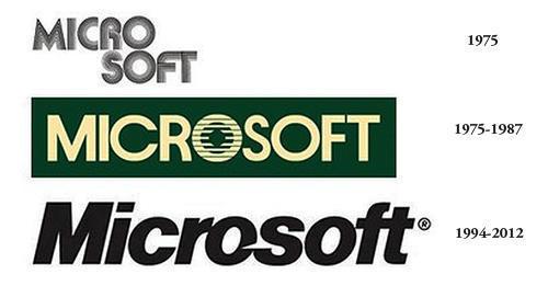 Microsoft logo đầu tiên – 2012