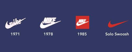 logo Nike qua các giai đoạn