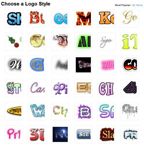 Tạo logo chữ với Cool Text