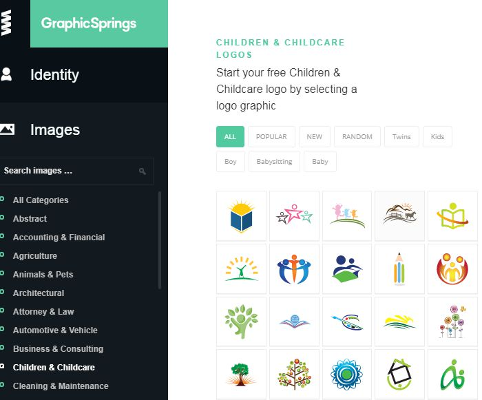 Công cụ tạo logo online với Graphic Spring
