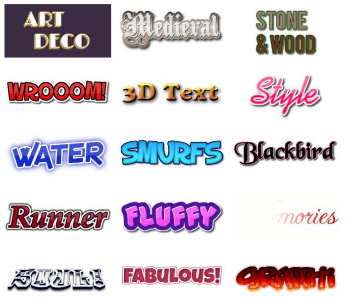 Ứng dụng tạo logo trực tuyến miễn phí với Flaming Text