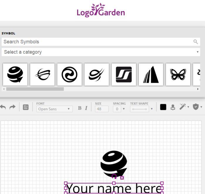 Công cụ tạo logo miễn phí Logo Garden