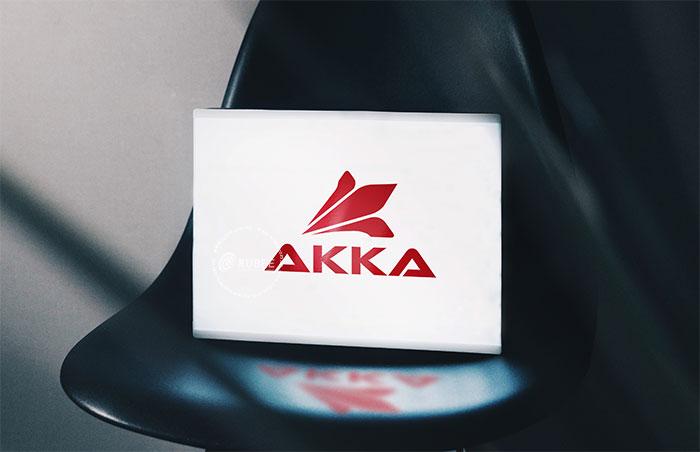 Thiết kế logo giày Akka