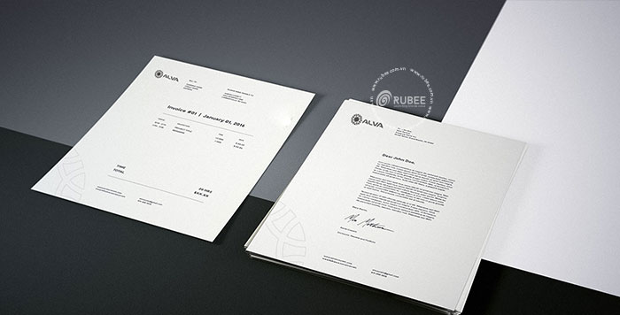 Phối cảnh thiết kế logo Alva