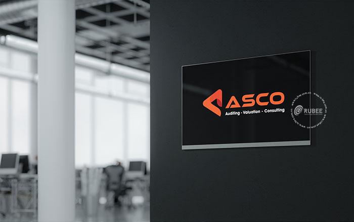 Thiết kế logo lĩnh vực kiểm toán Asco