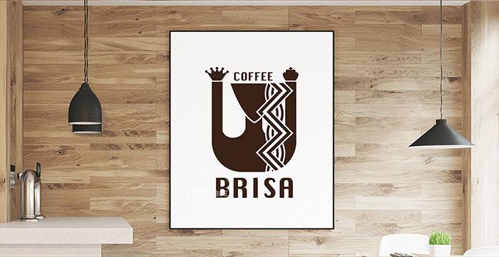 Thiết kế logo coffee Brisa