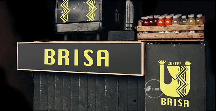 Thiết kế logo thương hiệu café Brisa