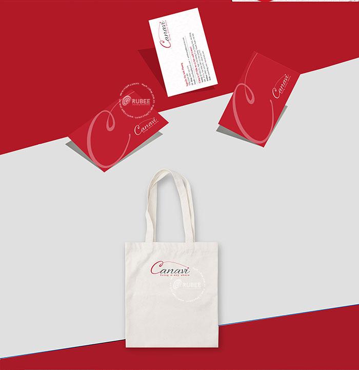 Thiết kế logo công ty sản xuất túi vải Canavi
