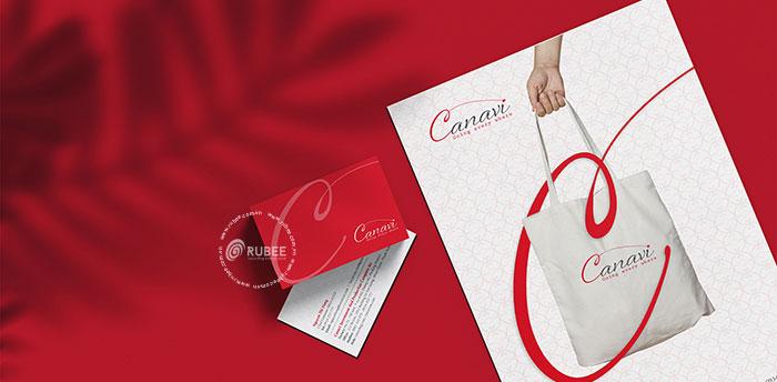 Thiết kế logo thương hiệu túi vải Canavi