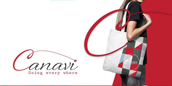 Thiết kế logo túi vải Canavi