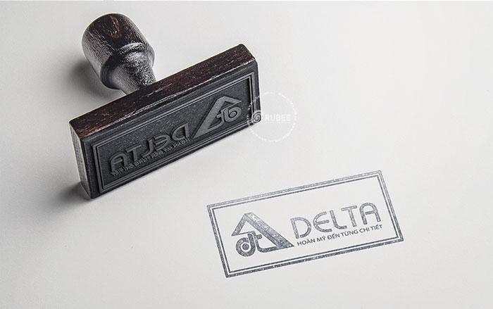 Thiết kế logo lĩnh vực sản xuất tủ sắt Delta
