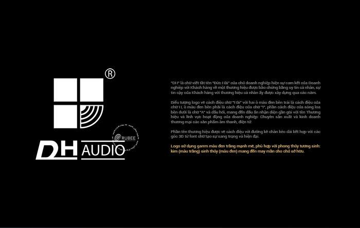 Thiết kế logo thương hiệu điện tử Dh audio