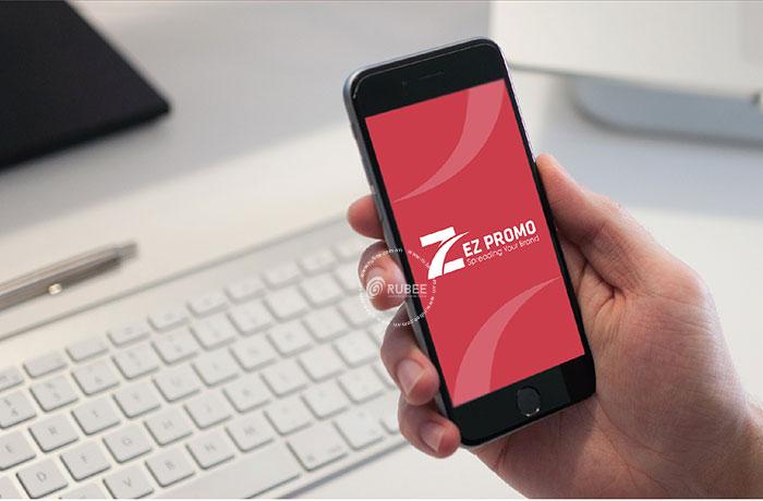 Phối cảnh thiết kế logo công ty xuất nhập khẩu Ez Promo