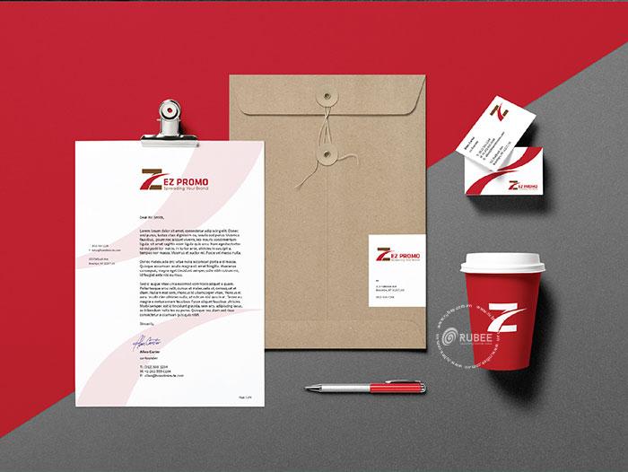 Thiết kế logo xuất nhập khẩu Ez Promo tại Rubee