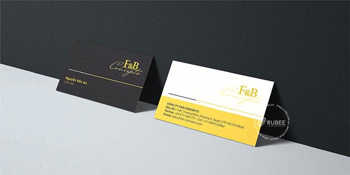 Thiết kế logo F&B Concept tại Rubee