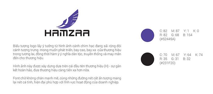 Thiết kế logo công ty thương mại Hamzaa