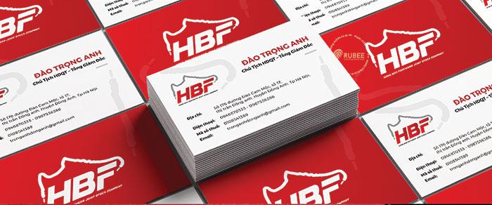 Phối cảnh thiết kế logo thương hiệu giày HBF