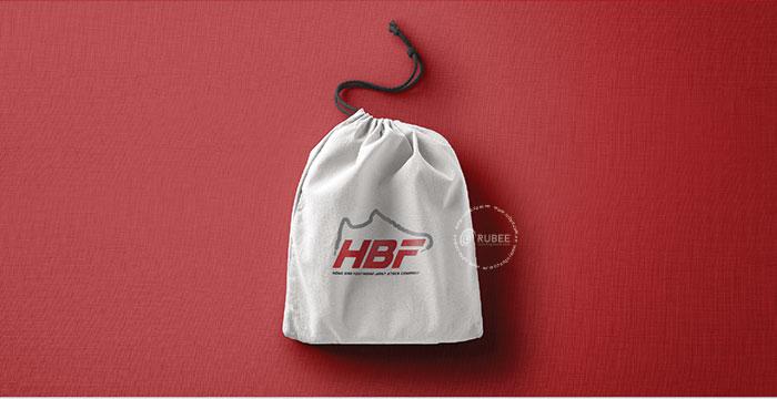 Thiết kế logo giày HBF tại Rubee
