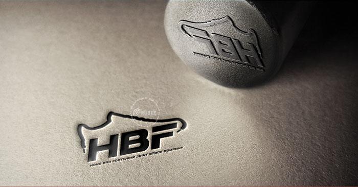 Thiết kế logo sản xuất phân phối giày HBF