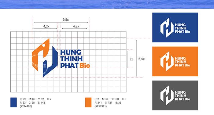 Thiết kế logo công ty thuốc thủy sản Hưng Thịnh Phát Bio