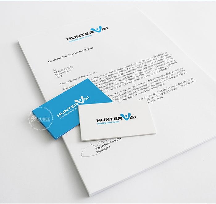 Thiết kế logo thương hiệu Huntervai