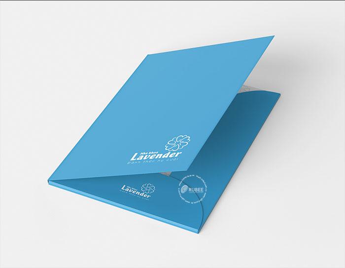 Phối cảnh thiết kế logo Lavender